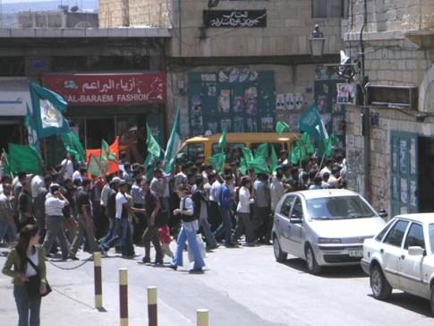 Hamas rally in Bethlehem / Photo credit: Wikipedia commons