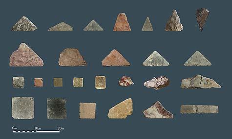 Herodian floor tiles Opus Collection / Courtesy City of David