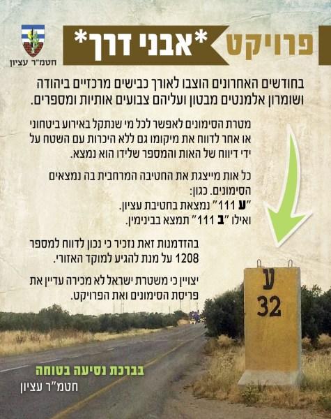 IDF Road Marker Flyer