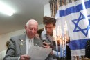 Elias Feinzelberg Reciting Kaddish at Holocaust Remembrance Ceremony, May 4, 2016