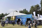 Intel booth at the Jerusalem Geek Picnic on Passover week