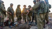 Israeli paratroopers outside the opening of a terror tunnel in Gaza / Photo credit: IDF