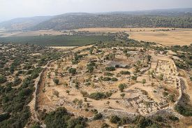 Skyview of the archaeological evidence of the Kingdom of David in the Elah Valley, Khirbet Qeiyafa.