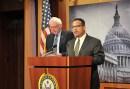 Congressman Keith Ellison (D-Min) with Senator Bernie Sanders (I-Vt).
