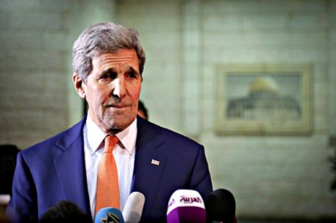 U.S. Secretary of State John Kerry in Ramallah. Nov. 24, 2015.