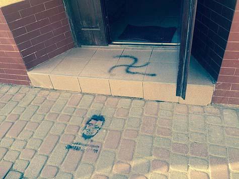 The Kolomyia Synagogue graffiti / Photo credit: TPS