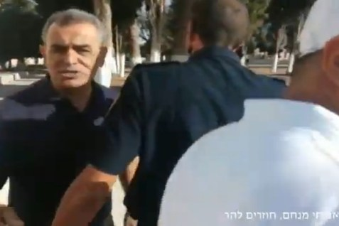MK Jamal Zahalka in rage on the Temple Mount