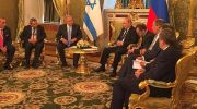 PM Benjamin Netanyahu, Russian President Vladimir Putin meet at the Kremlin.