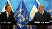 Prime Minister Benjamin Netanyahu, United Nations Secy-Gen. Ban Ki-moon.