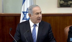 PM Netanyahu at a Cabinet Meeting