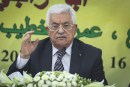 Palestinian Authority Chairman Mahmud Abbas (at 80) in a 2015 meeting of the Fatah party.