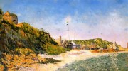 Port en Bessin, the Beach, 1883, by Paul Signac