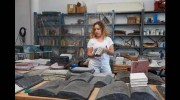 Rachel Libeskind with her stone books
