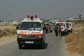 A Red Crescent ambulance at the Erez Crossing (Archive)