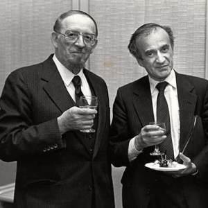 Elie Wiesel with Rabbi Yitzchok Avigdor