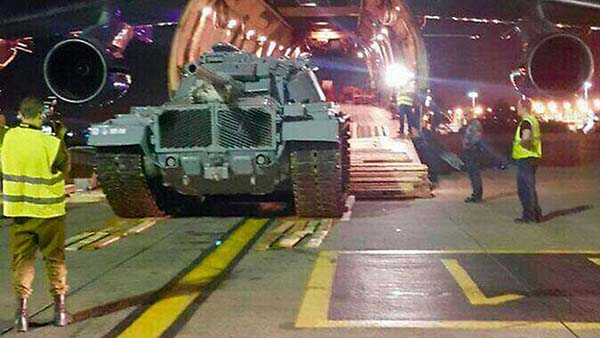 Returned tank lands in Israel / Courtesy