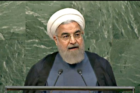 Islamic Republic of Iran's President Hassan Rouhani, at the UN, Sept. 28, 2015.