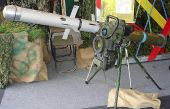 'Spike' anti-tank guided missile (ATGM) system.