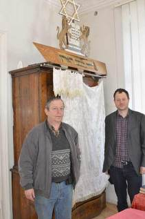 Legnica community leader Nicholas (left) and Kuba Einhorn.
