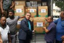 Israel's Ambassador to Sri Lanka presents shipments of Israel's disaster relief to Sri Lanka authorities.  May 29, 2016