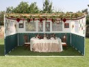 Example of a Sukka, the booth used on the holiday of Sukkot