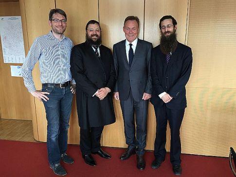 Berlin Rabbi Yehudah Teichtel, German Parliamentary head Thomas Opperman