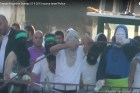 Masked Arab terrorists on the Temple Mount (Sept. 28, 2015)