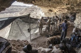 Volunteers at work in the archaeological excavation. Photographic credit: Yoli Shwartz, courtesy of the IAA.