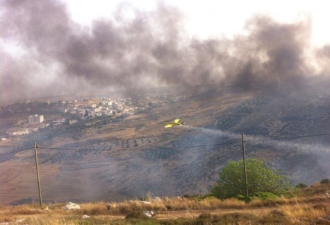 Firefighting in Har Hebron Area - May 14, 2016