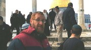 Yehuda Glick (C) on the Temple Mount