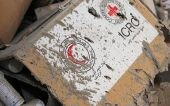 Desperately-needed medical supplies were destroyed in an attack on a UN humanitarian convoy close to Aleppo, Sept. 20, 2016.