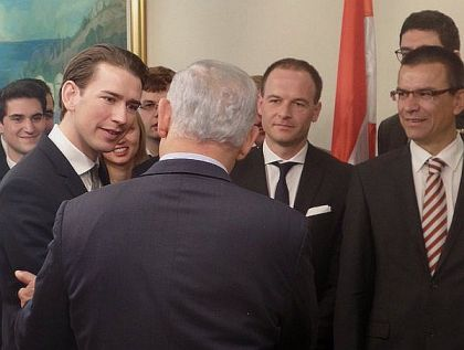 Prime Minister Benjamin Netanyahu met with a delegation of young Austrians.