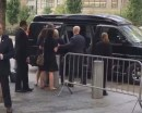 Hillary Clinton being carried to her van on Sunday following a collapse. / Screenshot