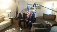 US Secy of State John Kerry meets with PM Benjamin Netanyahu in Berlin.