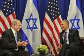 Prime Minister Benjamin Netanyahu meets with United States President Barack Obama in New York, on September 21, 2016.