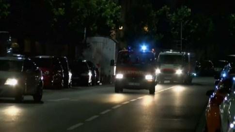 police arrive at bombing in Bavaria