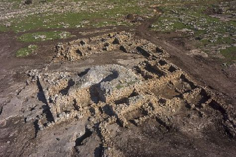 Remains of the ancient farmstead and monastery uncovered in Rosh Ha'Ayin.