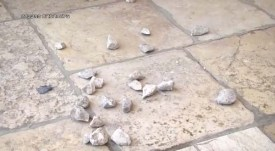 Rioters' stones on Temple Mount