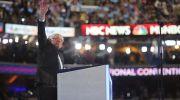 Vermont Senator Bernie Sanders at the 2016 Democratic National Convention in Philadelphia.
