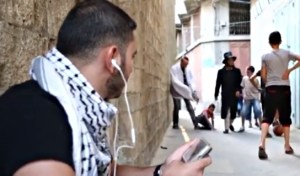 tallit Jew knocking over boy
