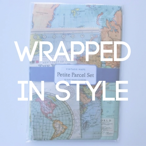 jeyjetter.com: Vintage World Map Gift Wrapping Set