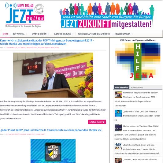 JEZT Ausgabe vom 18.03.2017 - Symbolbild © MediaPool Jena