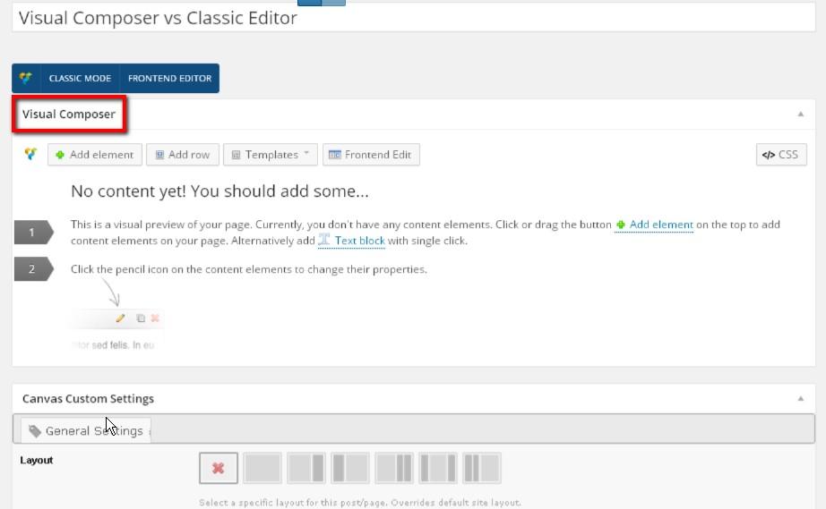 Visual Composer vs Classic Editor - Web Design with WordPressWeb