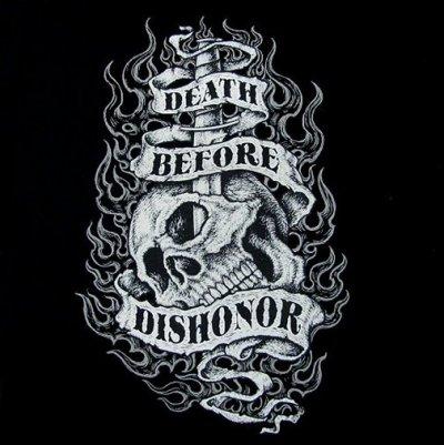 DEATH BEFORE DISHONOR SKULL SWEATSHIRT WS502 | eBay
