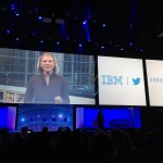 Ginni Rometty announcing the new partnership between IBM and Twitter