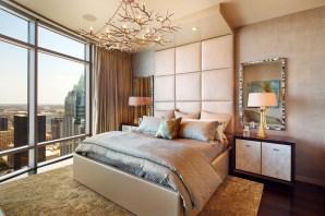 bedroom in the Austonian building.