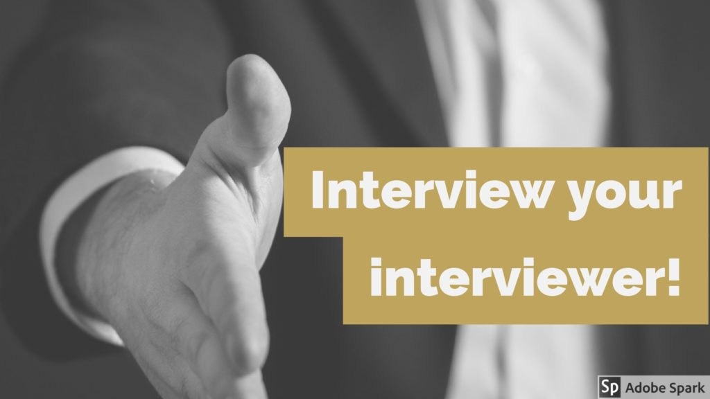 Why You Should Interview Your Interviewer - Johnson  Hill