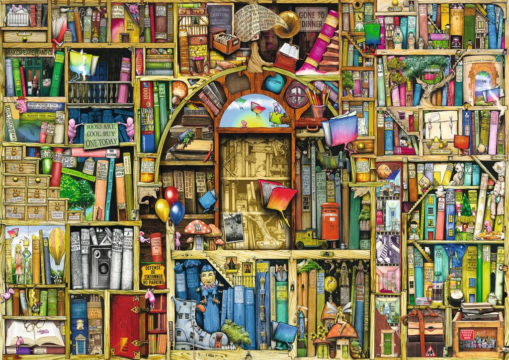 The Bizarre Bookshop 2 Jigsaw By Colin Thompson Rb19314 1