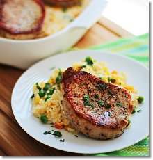 Easy Cheese Pork Chop and Rice Casserole