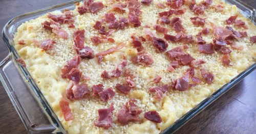 mac and cheese with proscuitto